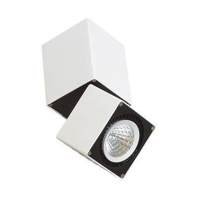 Spot Sobrepor Focus Branco LED 12x8,5cm Mantra 1 LED 12W 30159 Salas e Comercial