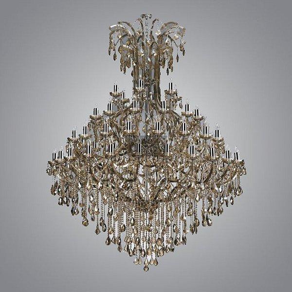 Lustre Candelabro Atennu Cristal Conhaque 60 Braços 210x183cm Mantra 60 E14 40W Bivolt 2898 Entradas e Hall
