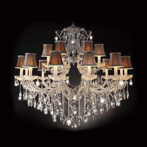 Lustre Candelabro Anubis Cristal Cupula 18 Braços 95x110cm Mantra 18 E14 40W Bivolt 2899 Entradas e Hall