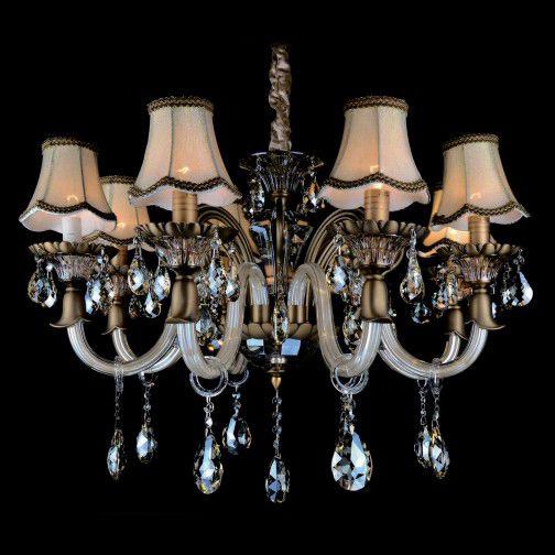 Lustre Candelabro Berilo Cromado Cristal 6 Braços 75x67cm Mantra 6 E14 40W Bivolt 30271 Hall e Entradas