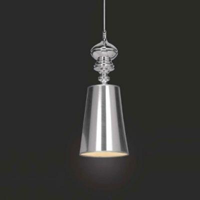 Lustre Pendente Vertical Claire Metal Prata Cupula 55x20cm Mantra 1 E27 40W Bivolt 2338 Cozinhas e Salas