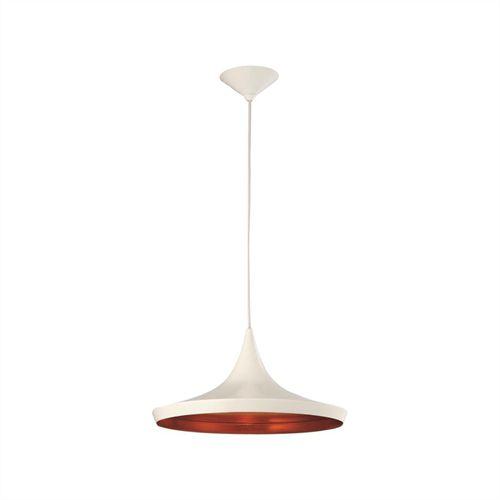 Pendente Zen Vertical Cupula Cônica Alumínio Branco 18x36cm Mantra 1 E27 40W Bivolt 2943 Cozinhas e Salas