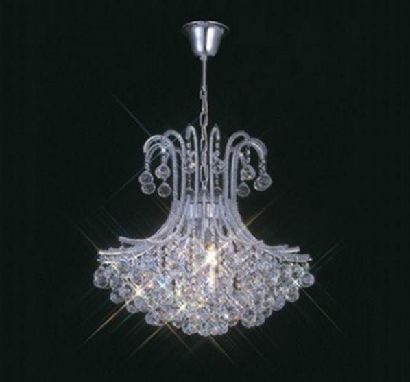 Lustre Bask Candelabro Cromado Cristal Transparente 79x60cm Mantra 6 E14 40W Bivolt 30010 Hall e Salas