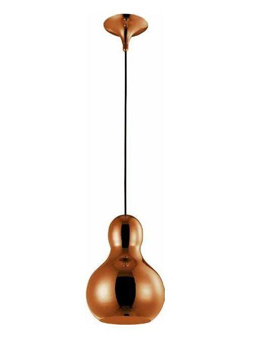 Pendente Bell Vertical Sino Metal Vidro Bronze 36x21cm Mantra 1 E27 40W Bivolt 30370 Cozinhas e Salas
