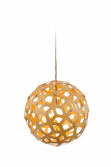 Pendente Sena Vertical Esfera Madeira Natural 62x60cm Mantra 1 E27 40W Bivolt 30411 Salas e Quartos