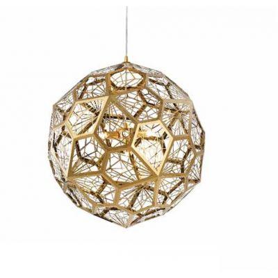 Pendente Balor Aramado Esfera Dourado 38x38cm Mantra 4 G9 Halopin 40W Bivolt 30427 Entradas e Salas