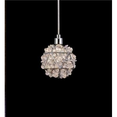 Pendente Zayn Metal Cromado Cristal Transparente 10x10 Mantra 1 G9 Halopin 40W Bivolt 30430 Entradas e Salas