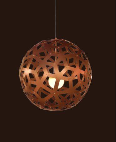 Pendente Sena Vertical Esfera Cobre Rústico 62x60cm Mantra 1 E27 40W Bivolt 30461 Salas e Quartos