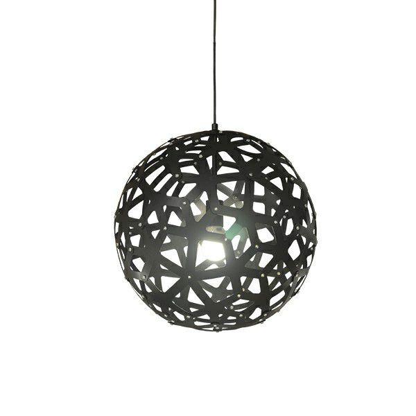 Pendente Sena Vertical Decorativo Esfera Preto 47x45cm Mantra 1 E27 40W Bivolt 30464 Salas e Quartos