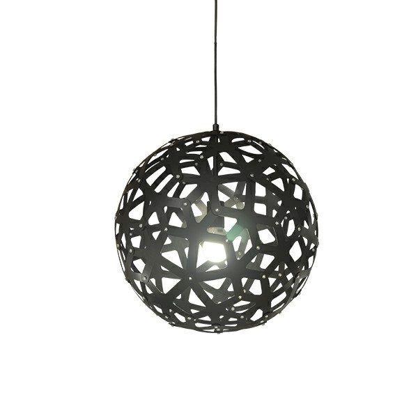 Pendente Sena Vertical Decorativo Esfera Preto 62x60cm Mantra 1 E27 40W Bivolt 30465 Salas e Quartos