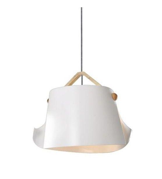 Pendente Leon Vertical Madeira Alumínio Branco 31x28cm Mantra 1 E27 40W Bivolt 30473 Cozinhas e Salas
