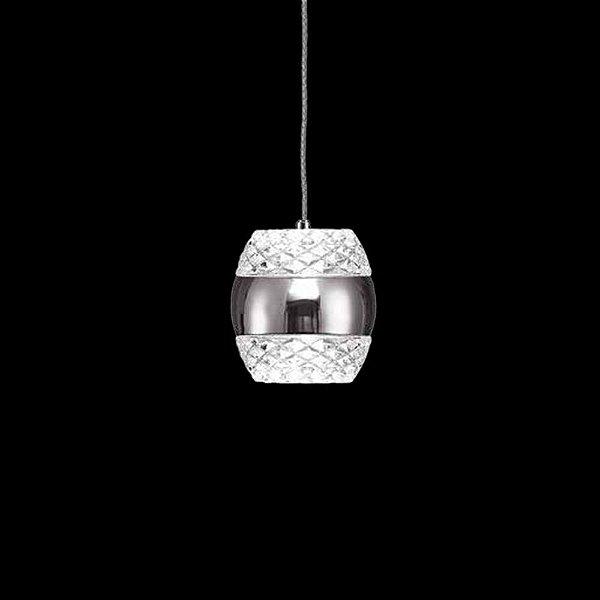 Pendente Khalifa Vertical LED Redondo Cristal 14x14cm Mantra Placa LED 6W Bivolt 5167 Cozinhas e Salas