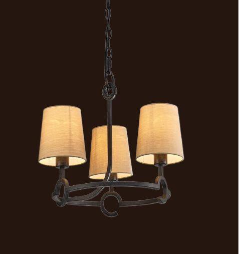 Pendente Candelabro Argi Cupula Bege Metal Envelhecido 41x55cm Mantra 3 E27 13W Bivolt 5211 Salas e Hall