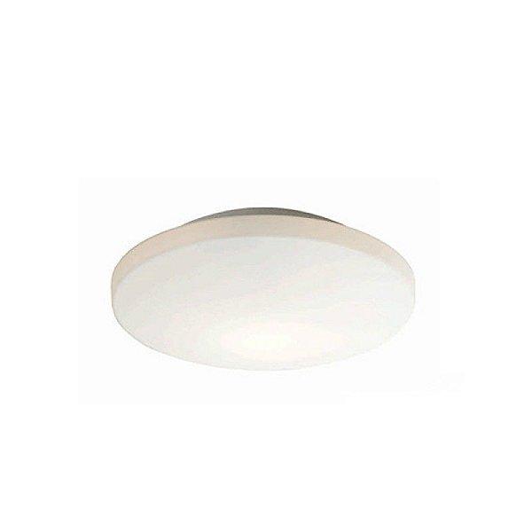 Plafon Snow Glass Redondo Cromado Vidro Leitoso 90x28,5cm Mantra 2 E27 40W Bivolt 2548 Quartos e Banheiros