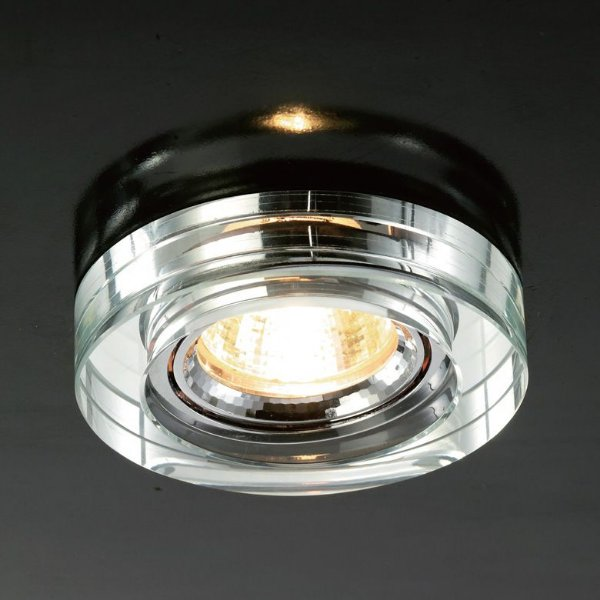 Spot Cristal Semi-Embutido Direcionável Redondo 2x9cm Mantra 1 GU10 8W Dicróica Bivolt 2725 Escritórios e Salas