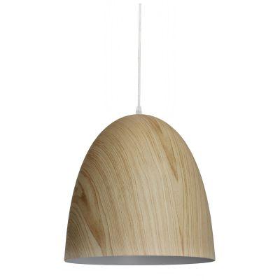 Pendente Foliate Vertical Sino Aço Cor Madeira 30x30cm Bella Iluminação 1 E27 40W Bivolt AD001 Cozinhas e Salas