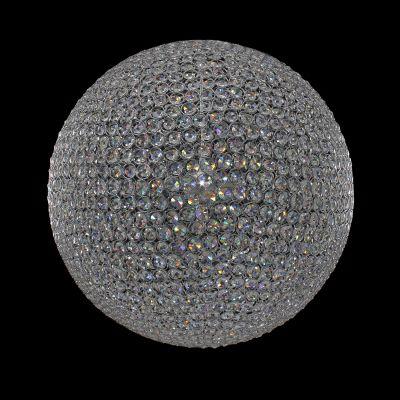 Lustre Tribeca Esfera Cromado Cristal 40x40cm Bella Iluminação 6 G9 Halopin 40W AQ010S Salas e Entradas