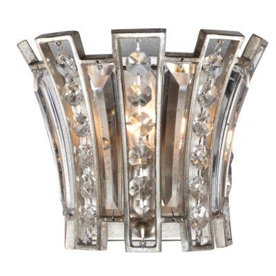 Arandela Jazz Cristal Metal Envelhecido 19x23cm Bella Iluminação 1 E14 Bivolt AS008 Corredores e Entradas
