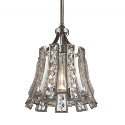 Pendente Jazz Cristal Metal Envelhecido 26x23cm Bella Iluminação 1 E27 Bivolt AS009 Entradas e Salas
