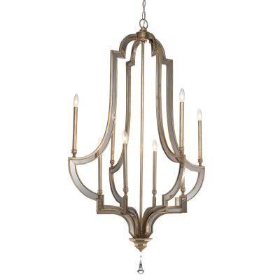 Lustre Lumiere Candelabro Cristal Metal Envelhecido 143x86cm Bella Iluminação 8 E14 Bivolt AS014 Entradas e Hall