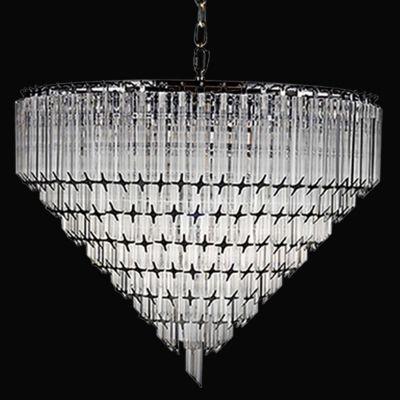 Lustre Opus Metal Cromado Cristal Transparente 50x62cm Bella Iluminação 6 E14 Bivolt BM006 Entradas e Hall