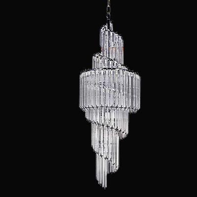 Lustre Opus Vertical Cromado Cristal Transparente 124x41cm Bella Iluminação 11 E14 Bivolt BM008 Entradas e Hall