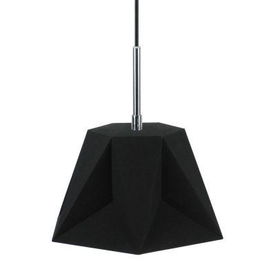 Pendente Poli Vertical Tecido Metal Preto 25x29cm Bella Iluminação 1 G9 Halopin Bivolt CC004A Cozinhas e Quartos