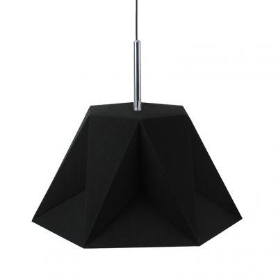 Pendente Poli Vertical Tecido Metal Preto 47x40,5cm Bella Iluminação 1 E27 Bivolt CC005A Cozinhas e Quartos