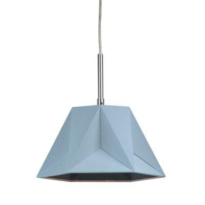Pendente Poli Vertical Tecido Metal Cinza 47x40,5cm Bella Iluminação 1 E27 Bivolt CC005C Cozinhas e Quartos