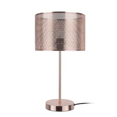 Abajur Telinha Metal Cobre Cupula Redonda 48x26cm Bella Iluminação 1 E-27 Bivolt CI010B Salas e Quartos