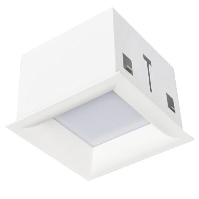 Plafon Tec Embutido Quadrado Curvo Branco 12x17cm Bella Iluminação 1 E-27 Bivolt DL010 Salas e Corredores