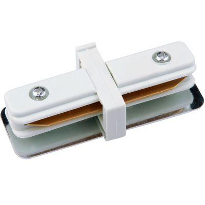 Conector Reto para Trilho Metal Branco DL023B Bella Iluminação