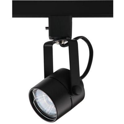 Spot Pharos Trilho Direcionável Metal Preto 11x5,5cm Bella Iluminação 1x Dicróica Bivolt DL032P Salas e Cozinhas