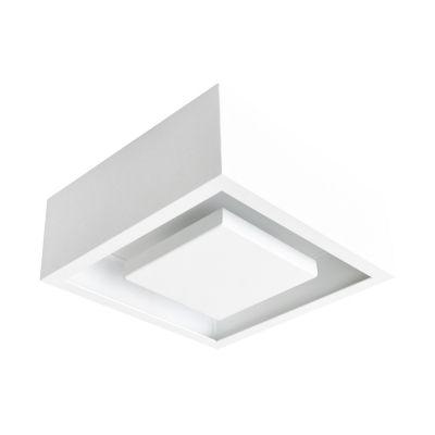 Plafon Hide LED Quadrado Embutido Branco 8,5x22cm Bella Iluminação 1x LED 12W Bivolt DL081WW Salas e Cozinhas