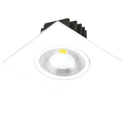 Spot Quad Foko LED Embutido Quadrado Branco 4,4x8,8cm Bella Iluminação 1x LED 5W Bivolt DL106Q Cozinhas e Salas