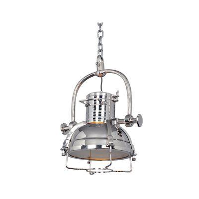 Pendente Sino Decorativo Aço Inox Vertical Cromado 50x45cm Bella Iluminação 1x E27 Bivolt EA025P Cozinhas e Salas