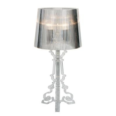 Abajur Star Decorativo Acrílico Cupula Transparente 50x23cm Bella Iluminação 1 E14 Bivolt EA800S Mesas e Cabeceiras