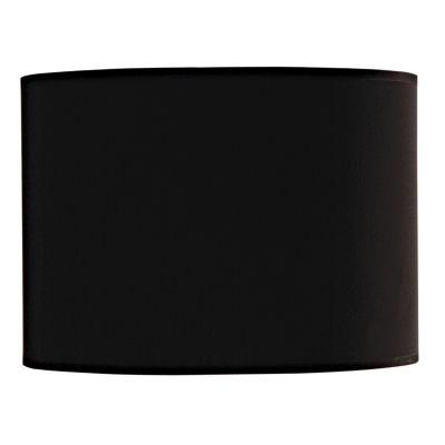 Cupula Cilindrica Tecido Preto 22x31cm Bella Iluminação EX1315PT Abajures