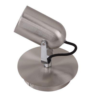 Spot Actio Direcionável Alumínio Escovado 14,5x13cm Bella Iluminação 1 GU10 Dicróica Bivolt FH001A Quartos e Salas