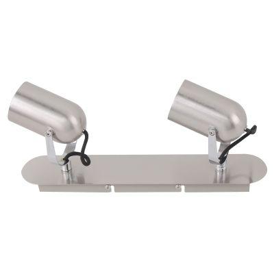 Spot Actio Ret Direcionável Duplo Escovado 14,5x35cm Bella Iluminação 2 GU10 Dicróica FH002A Quartos e Cozinhas