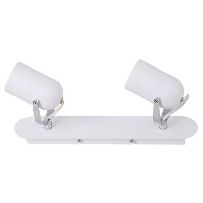 Spot Actio Ret Direcionável Duplo Branco 14,5x35cm Bella Iluminação 2 GU10 Dicróica Bivolt FH002B Salas e Cozinhas