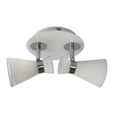 Spot Sob Direcionável Redondo Duplo Transparente 14x17,5cm Bella Iluminação 2 E14 Bivolt FH012B Quartos e Salas