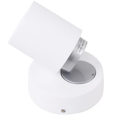 Spot Spin Direcionável Sobrepor Alumínio Branco 10x11cm Bella Iluminação 1x Dicróica Bivolt FH018 Salas e Quartos