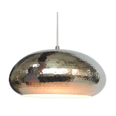 Pendente Fatsa Decorativo Redondo Metal Cromado 29x41cm Bella Iluminação 1x E27 Bivolt GP005C Escritórios e Salas
