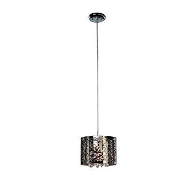 Pendente Vivace Aço Inox Cristal Transparente 14x20cm Bella Iluminação 1 G9 Halopin Bivolt HO035 Salas e Cozinhas
