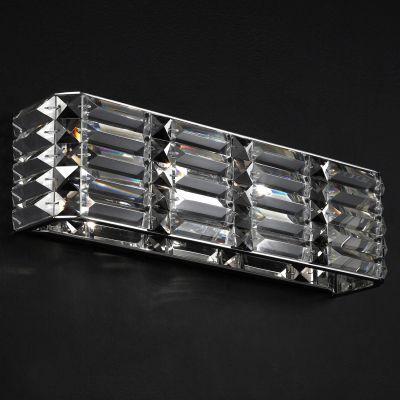 Arandela Recital Retangular Cristal Lapidado 12x42cm Bella Iluminação 2 G9 Halopin Bivolt HO044 Corredores e Salas