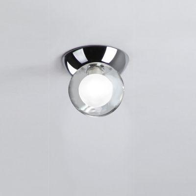Plafon Esfera Vidro Duplo Transparente Leitoso 14x12cm Bella Iluminação 1 G9 Halopin HO061 Quartos e Banheiros