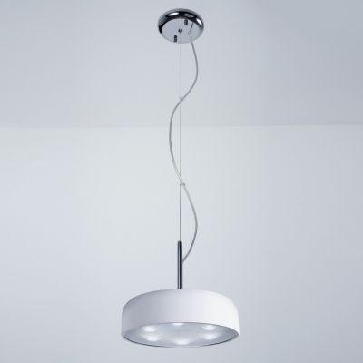 Pendente Redondo Alumínio Acrílico Branco 24,5x32,5cm Bella Iluminação 6 LED Bivolt HO095W Cozinhas e Entradas