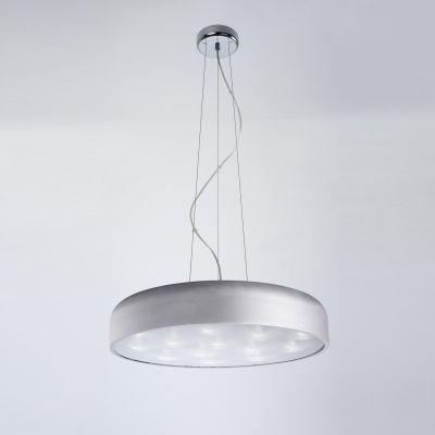 Pendente Redondo Alumínio Acrílico Prata 32x56,5cm Bella Iluminação 16 LED Bivolt HO097S Cozinhas e Entradas
