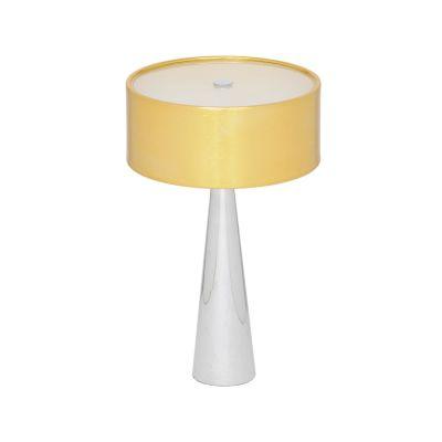 Abajur Aco Alumínio Vidro Fosco Cupula 40x25cm Bella Iluminação 3 G9 Halopin Bivolt HO098G Mesas e Criados-Mudos